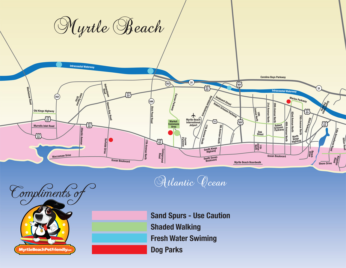 North Myrtle Beach Map Pdf