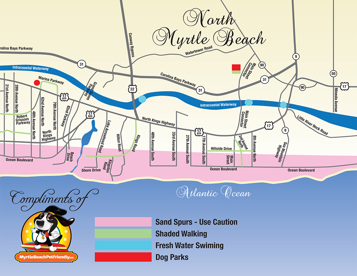 Myrtle Beach Map Attractions | The best beaches in the world